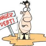 sinking in debt