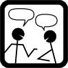 couple talking cartoon